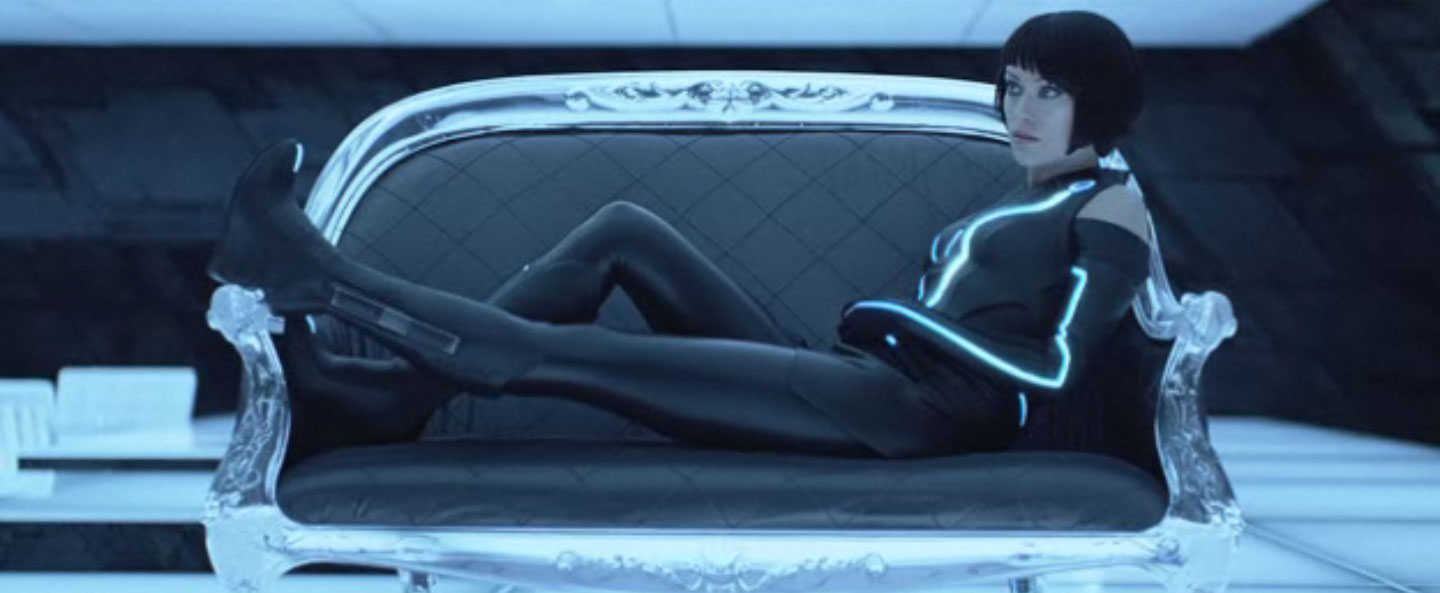 TRON olivia wilde on couch 1