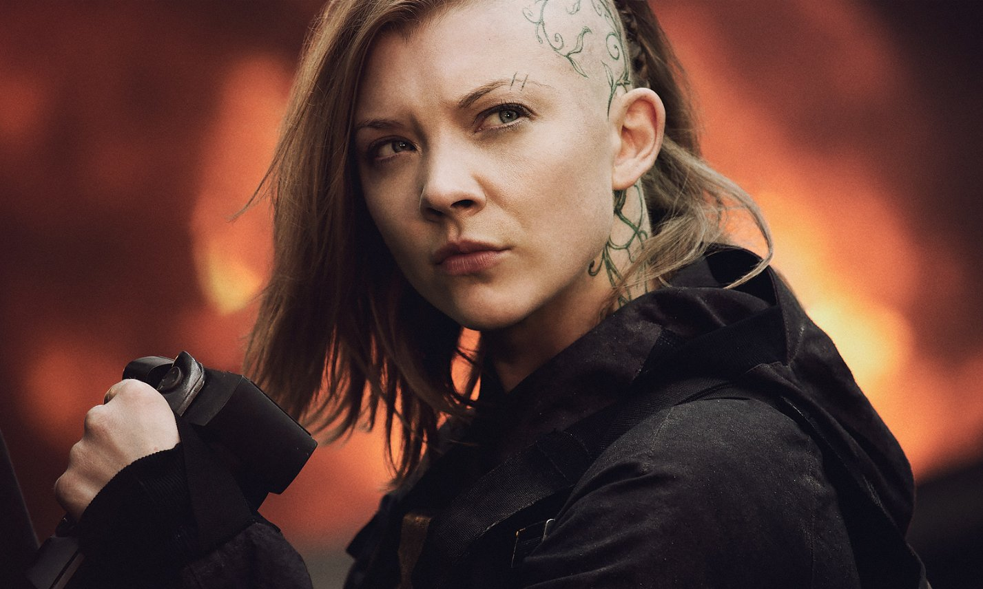The Hunger Games - Mockingjay - Part 1 (2014) Natalie Dormer head tattoo