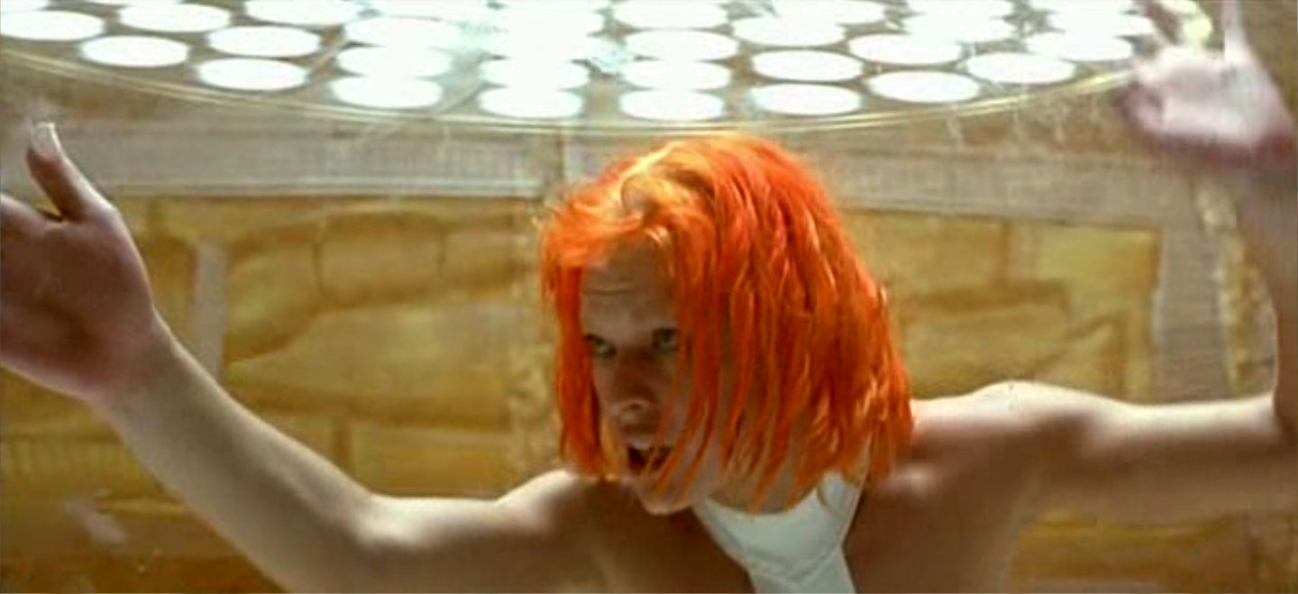 The Fifth Element Milla Jovovich with blonde roots