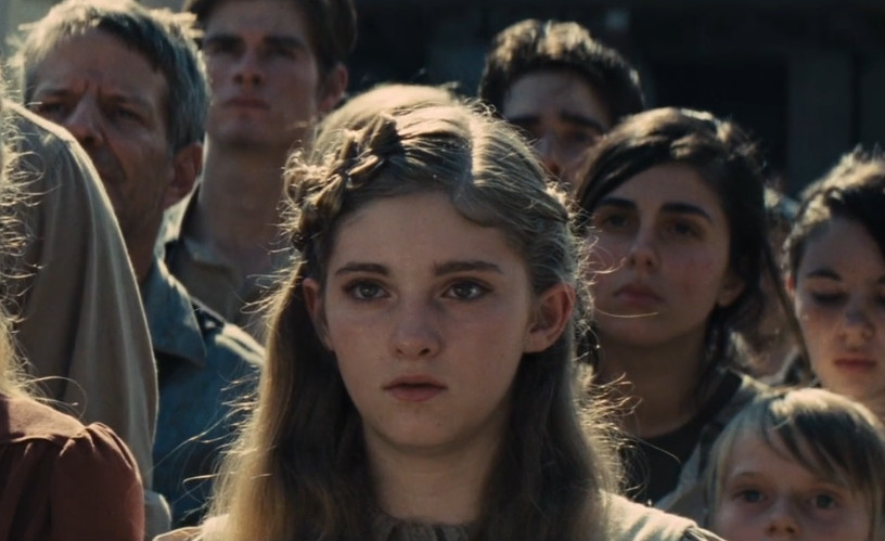Willow Shields Primrose Everdeen catching fire hunger games hairstyle