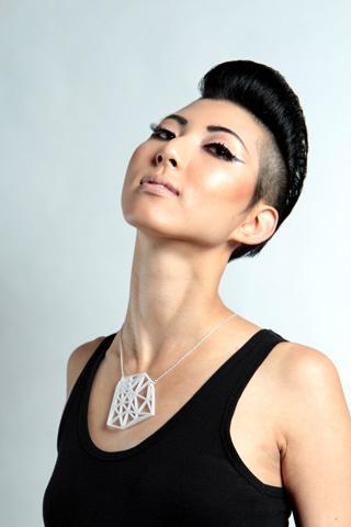 asian girl side undercut hair