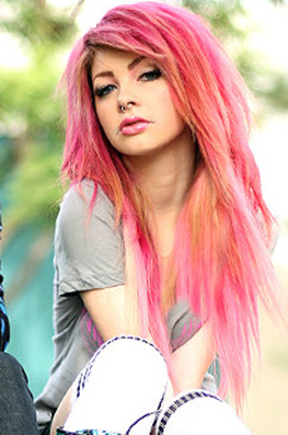 awesome pink long hair