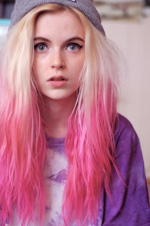 blonde to pink fade hair color