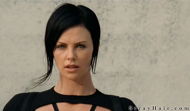 Charlize Theron Aeon Flux Movie Hairstyle – StrayHair