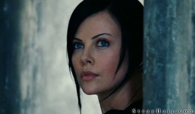 Charlize Theron Aeon Flux Hairstyle Back Hair