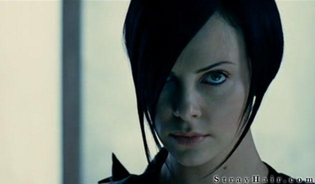 Charlize Theron Aeon Flux Movie Hairstyle - StrayHair