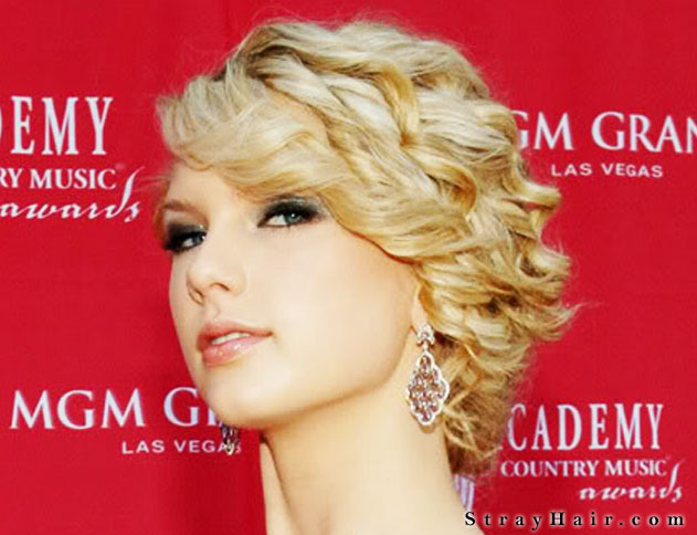 cool curly updo taylor swift