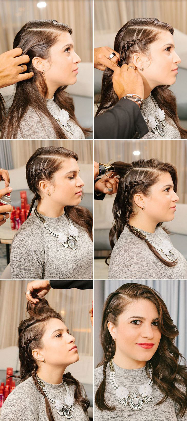 faux undercut braided hairstyle diy how to