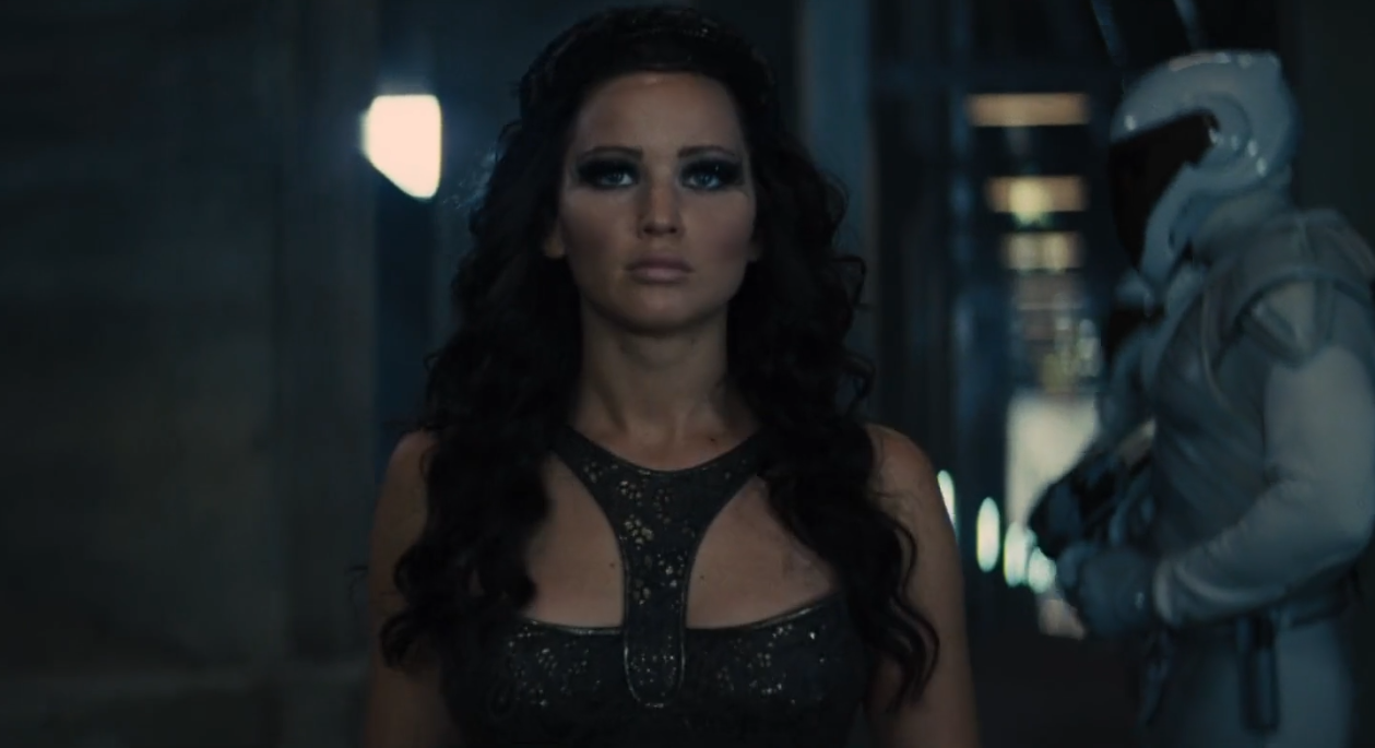 Katniss Everdeen Long Dark Wavy Hair Hunger Games Movie Jennifer Lawrence  Hunger Games Long Wavy Movie Hairstyle