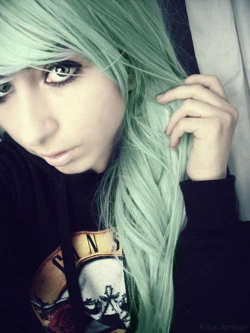 light mint green hairstyle