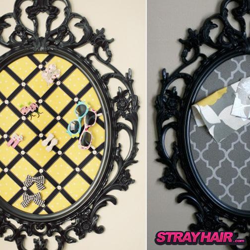 ornate pin board hair accessories storage