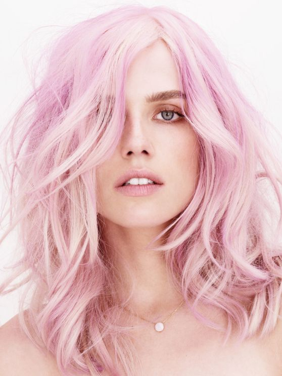 pastel light pink hairstyles