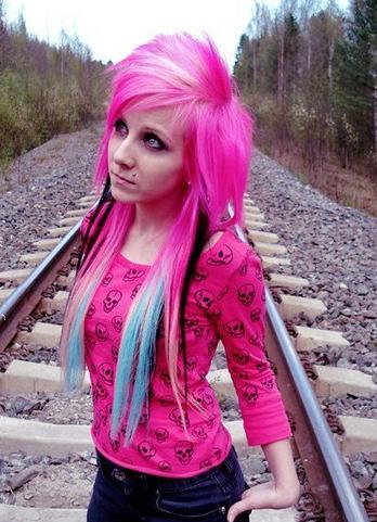 pink-emo-scene-hair
