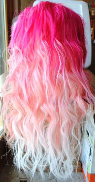 pink to white ombre hair color