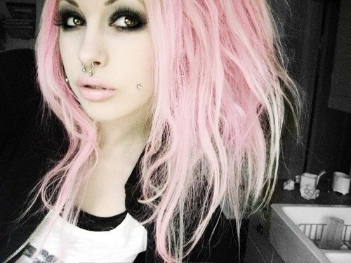 punk lite pink hair
