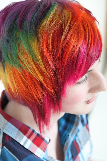 Rainbow Hair Color Strayhair