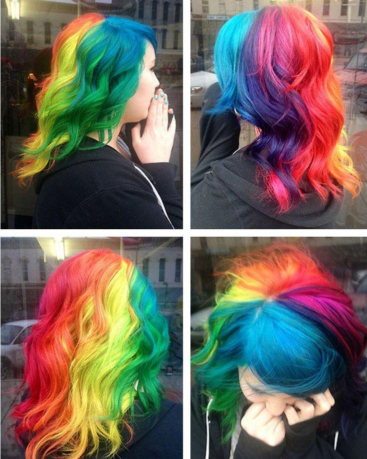 bright hair colors on pinterest bright hair rainbow hair and rainbow hair color strayhair