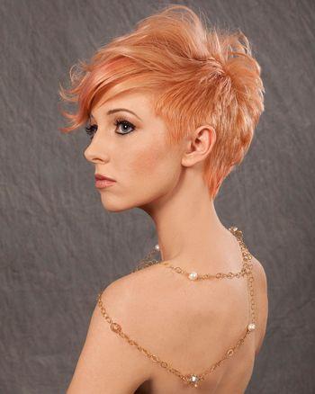 Peach unique hair color inspiration – StrayHair