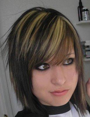 straight emo hair