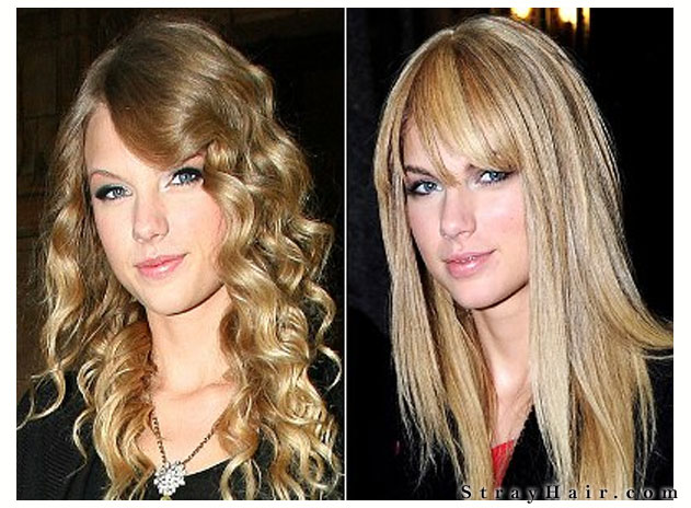 straight or curly hair taylor swift
