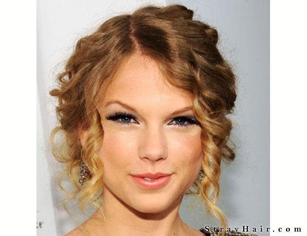 Taylor Swift Curly Updo Hair Strayhair