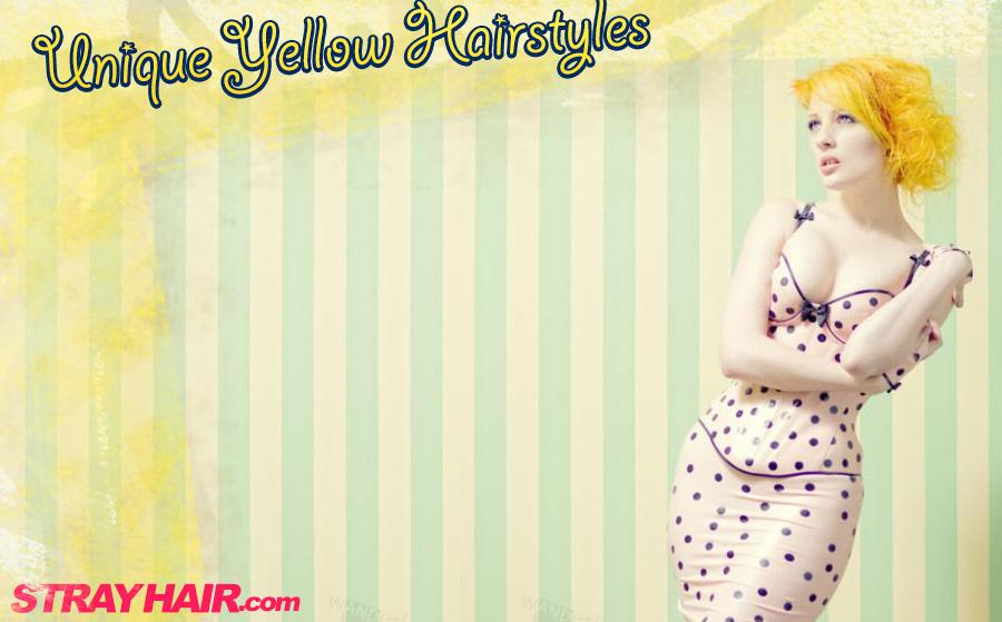 unique yellow hairstyles strayhair