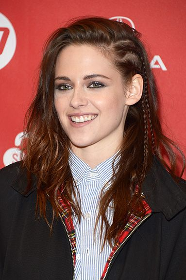 Kristen Stewart side sweep braid