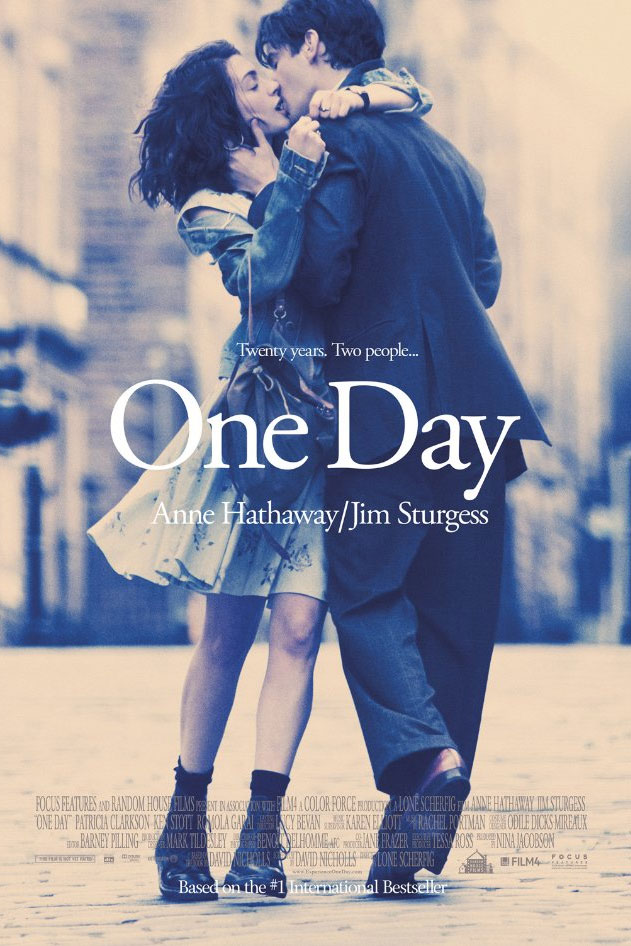 anne hathaway one day movie poster