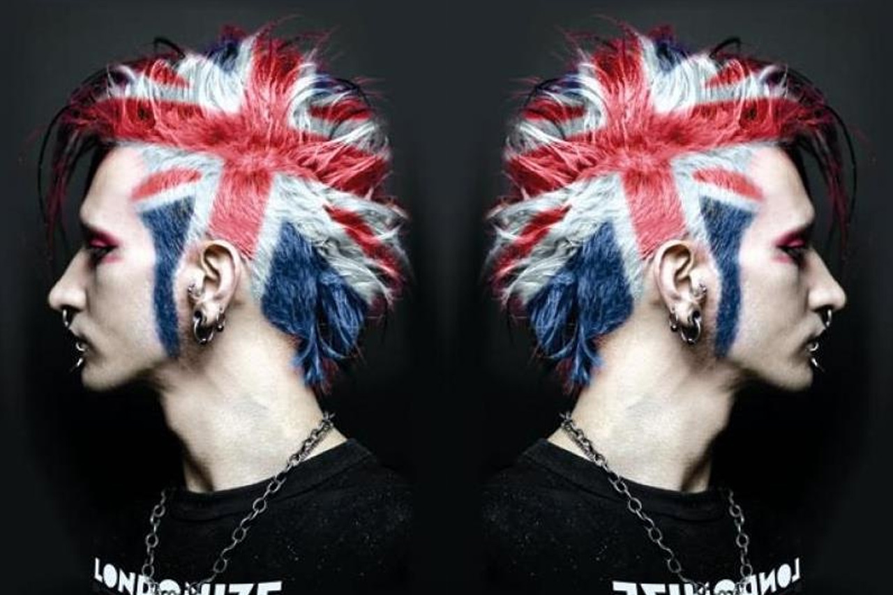 badass british flag hairstyle colour