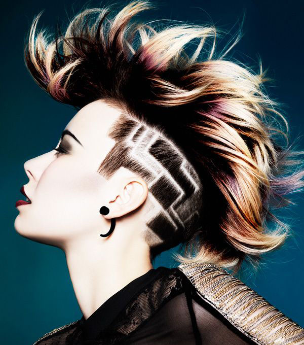 clipper designs undercut sides geometric design
