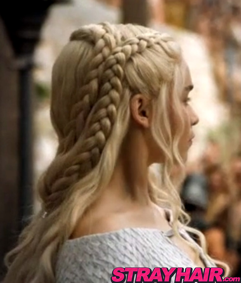 Game of thrones Emilia Clarke braided hairstyle