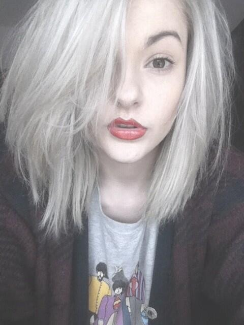 silver gray white hairstyle