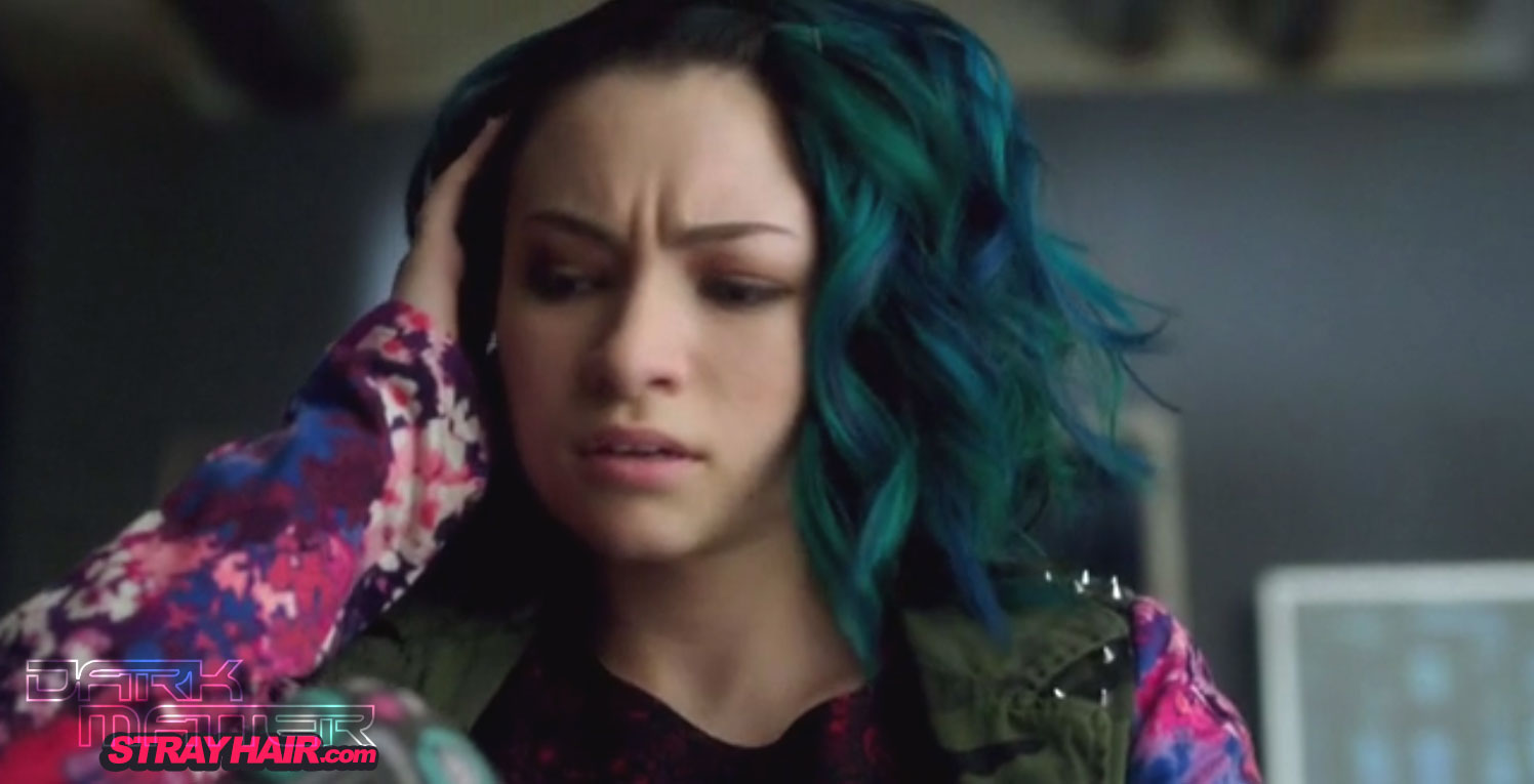 DarkMatter TV Show Number five Blue and Green Hair colro