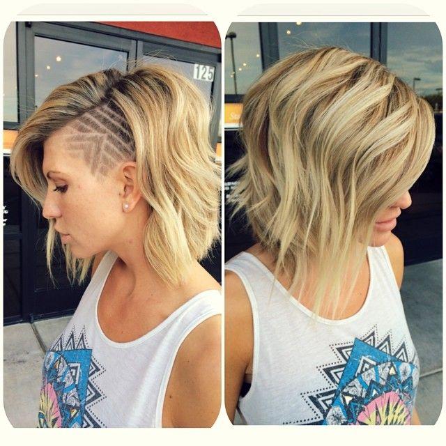 blonde hair side undercut hair design clipper