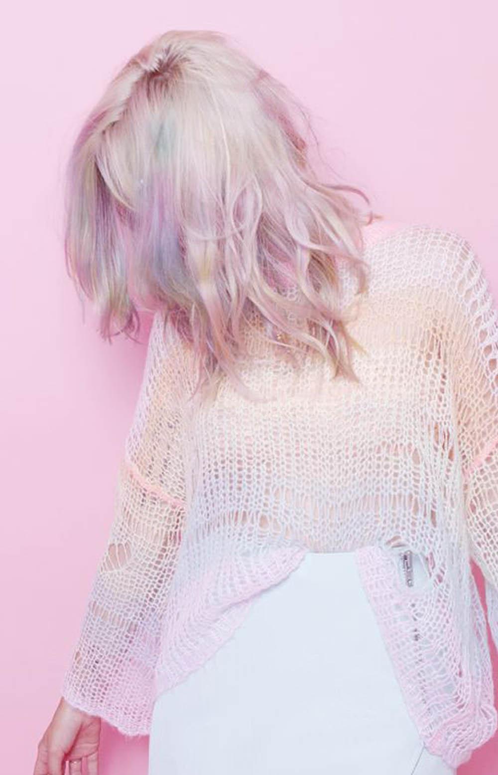 light pastel haircolor