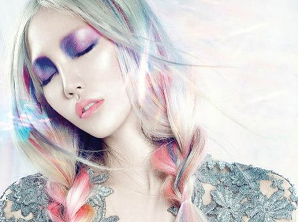 magical unicorn opal hair color