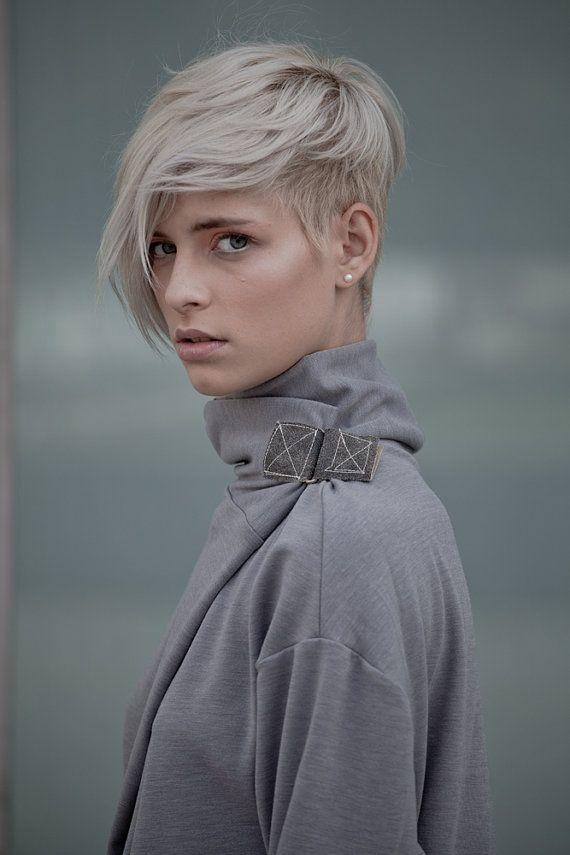short hair undercut blond