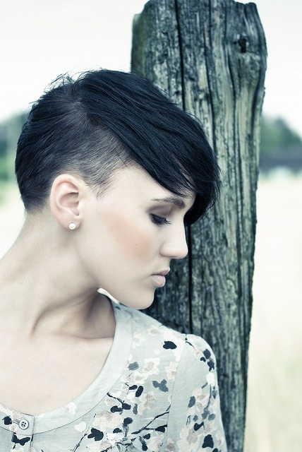 short hair undercut