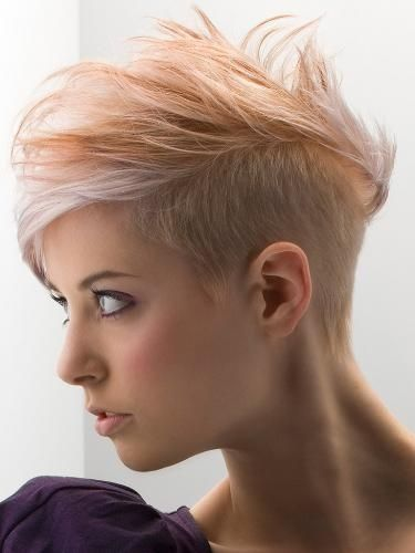 short undercut hairstyle spiked up