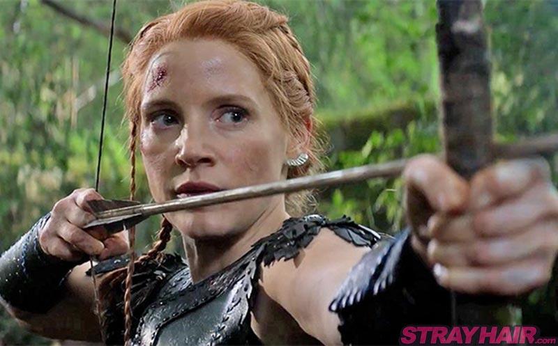 Jessica Chastain Warrior braids hairstyle The Huntsman Winters War