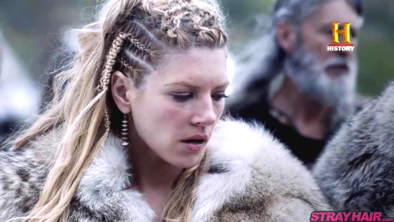 Lagertha Katheryn Winnick Vikings braided hairstyle