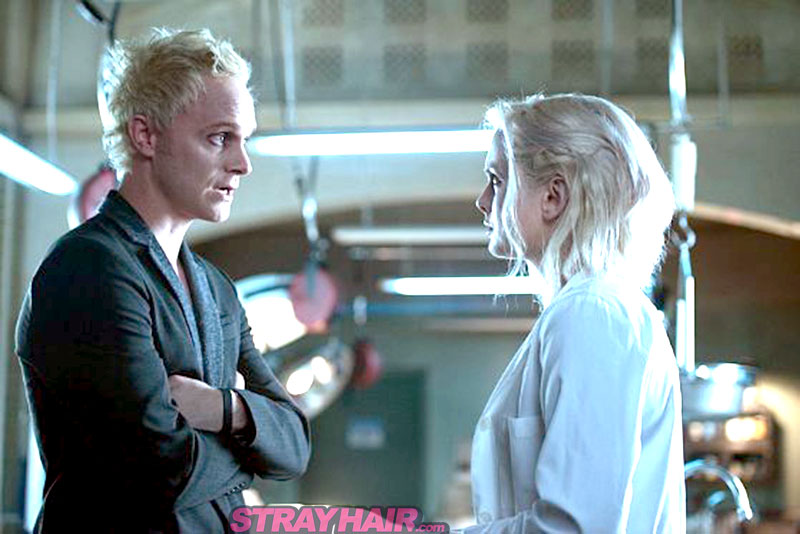 Rose Mclver and David Anders iZombie white hairstyles