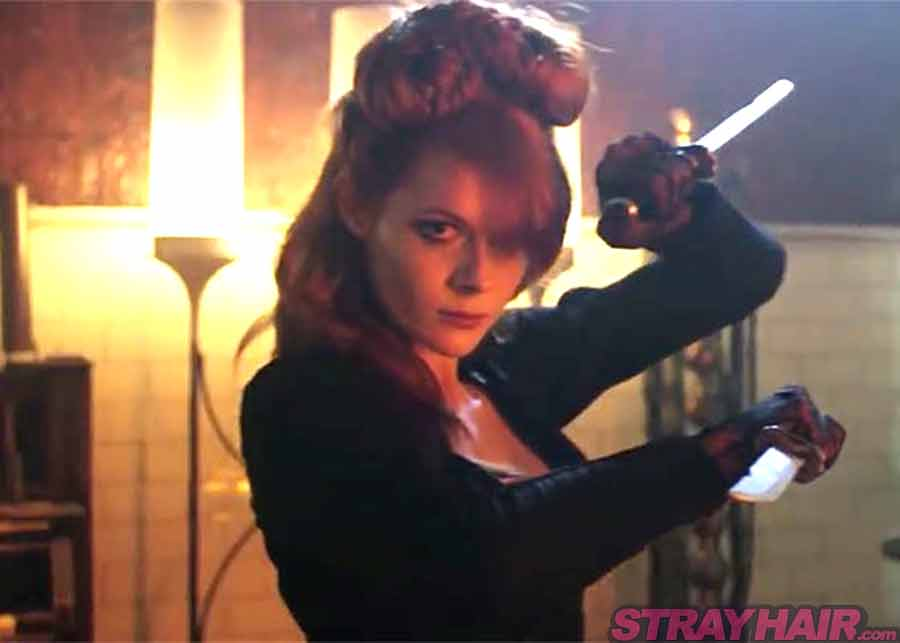 The Widow Emily Beecham Into the badlands redhead ginger hairstyle updo