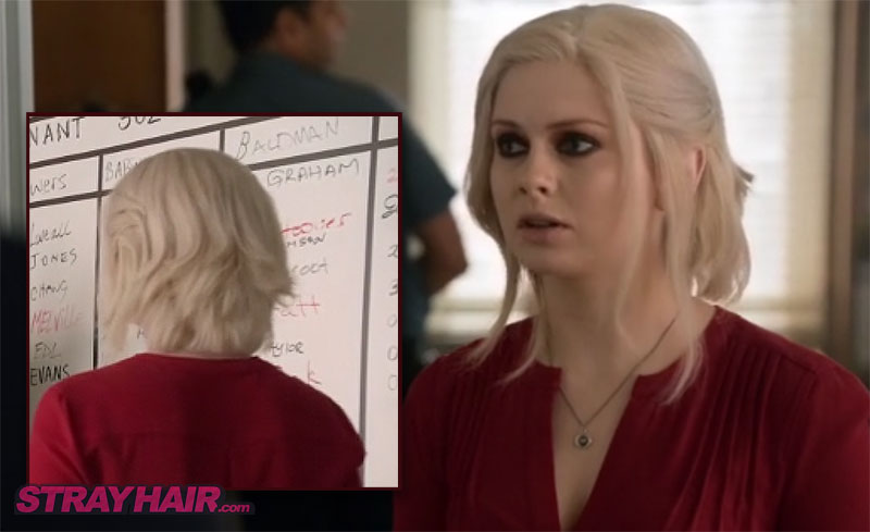 iZombie white hair Rose Mclver front and back hairstyle