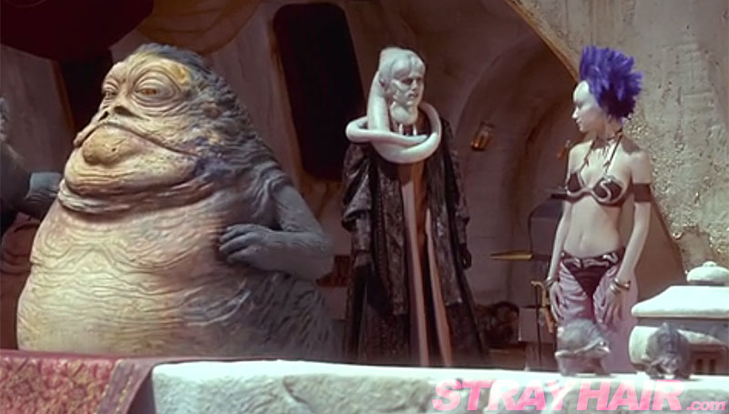 jabba hut slave girl outfit with blue hair hot