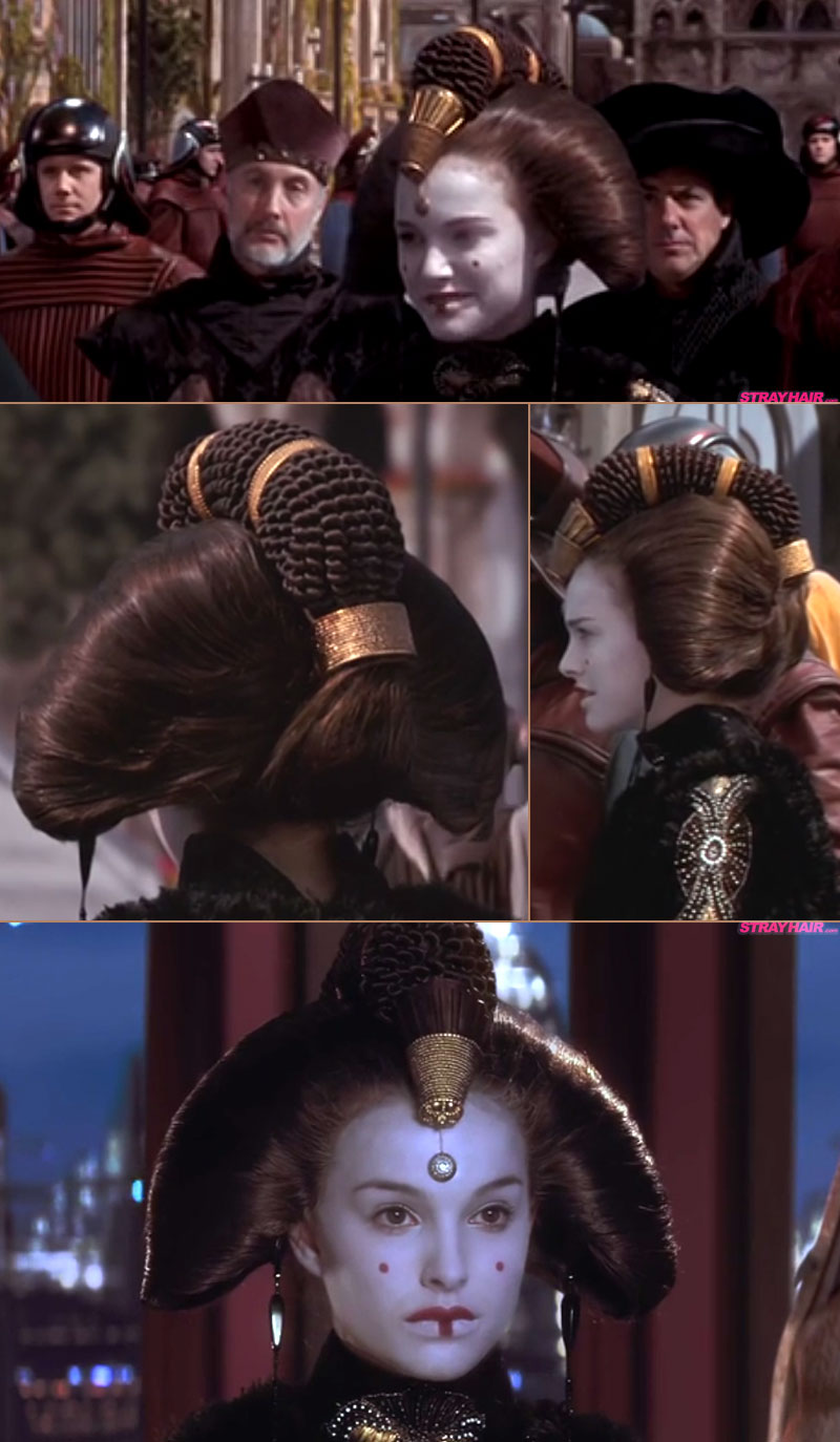 Epic Hairstyles For Natalie Portman In Star Wars Episode 1