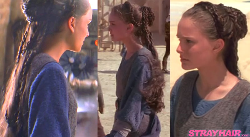 natalie portman starwars padme braided hairstyle Sides of hairstyle
