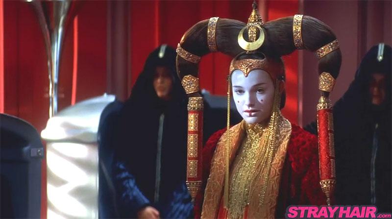 starwars episode 1 natalie portman huge costume hair