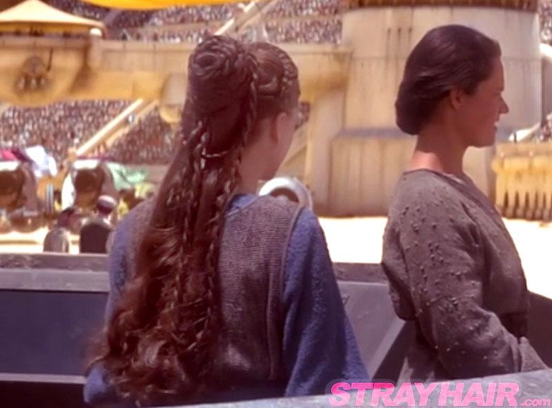 starwars episode 1 handmaid padme braided hair back natalie portman