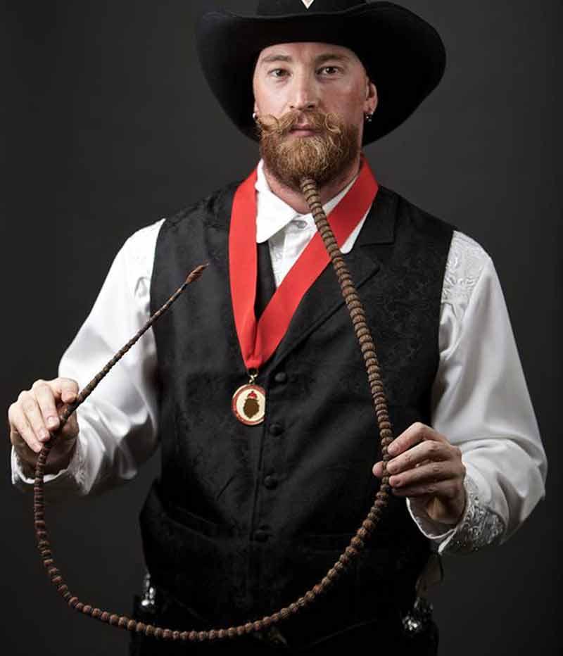 strange super long beard rope